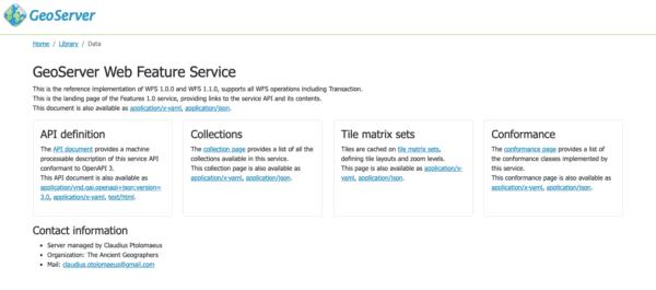 GeoServer para OGC API Features