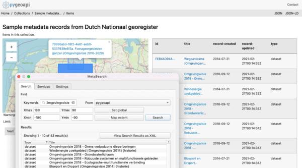 Localizando los mismos datos a través de QGIS y directamente en el servicio