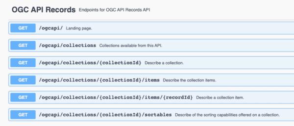 Documentación de OGC API